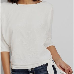 White textured blouse